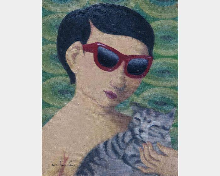 林麗玲-c-05 墨鏡與貓