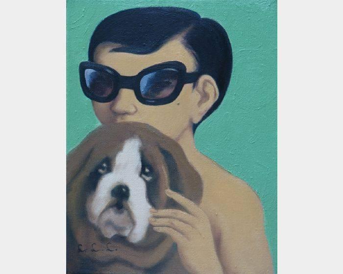 林麗玲-c-06墨鏡與狗