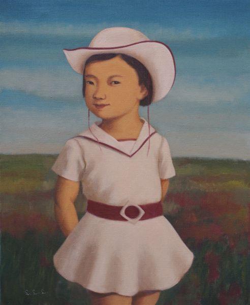 林麗玲-戴白帽子的小女孩