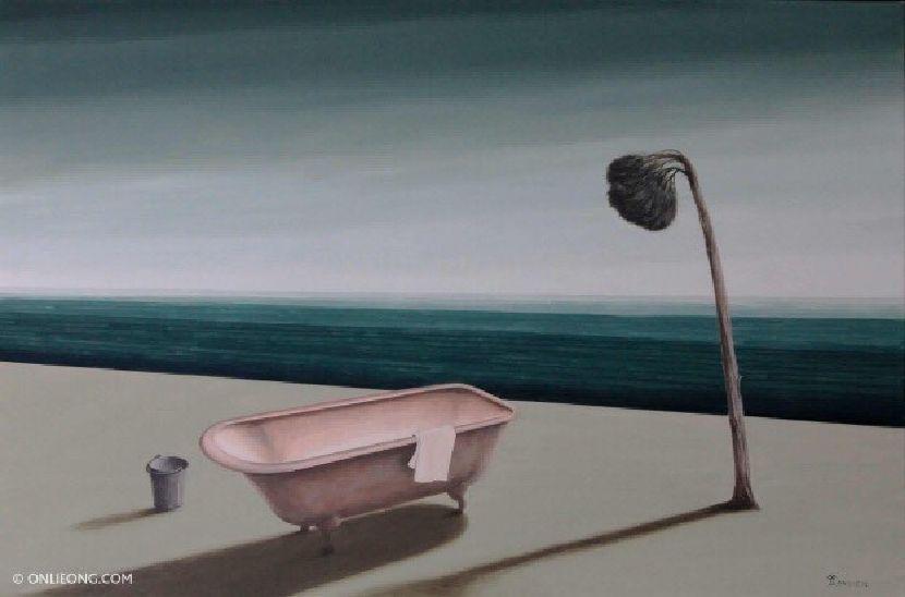 翁樹木(翁笠)-沐浴
