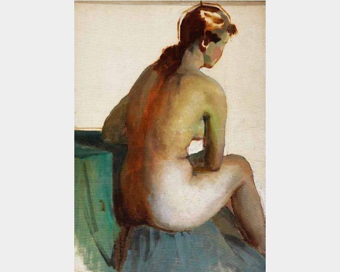 劉一層-端坐的裸女