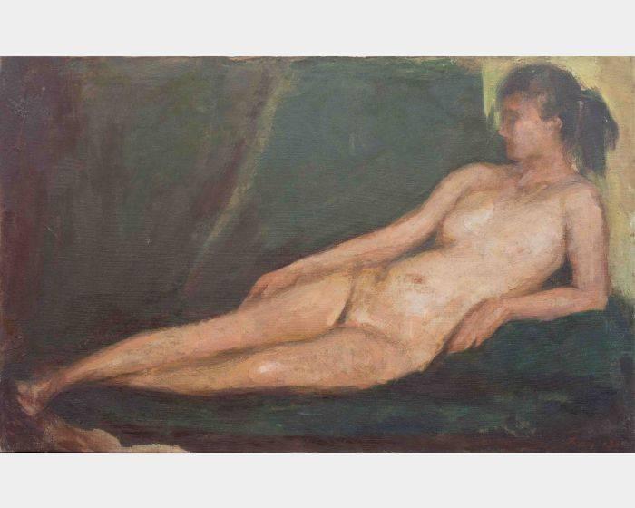 周大集-斜臥的裸女