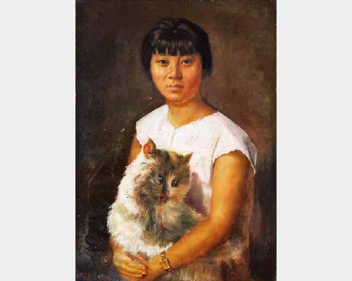 葉正昌-女孩與貓