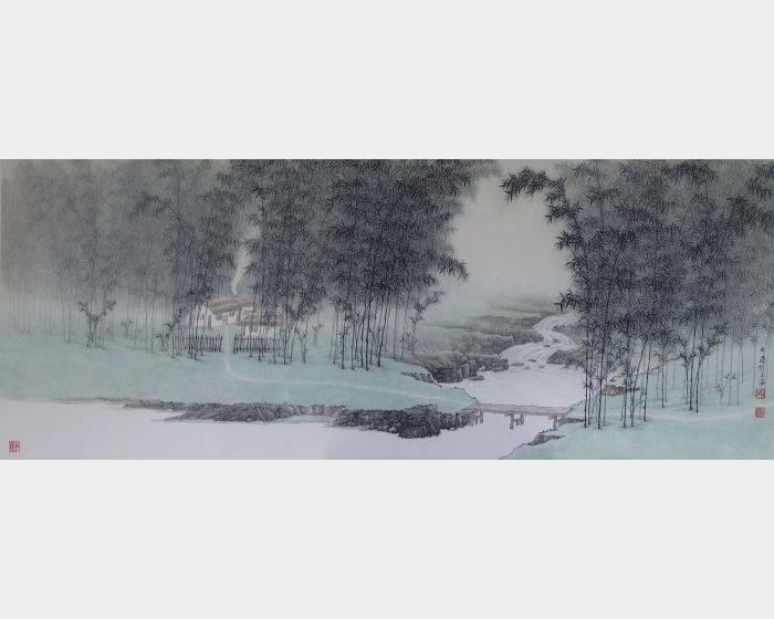 洪平濤-竹林幽居