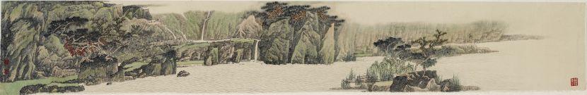 洪平濤-近澗涓密石,遠山映疏木