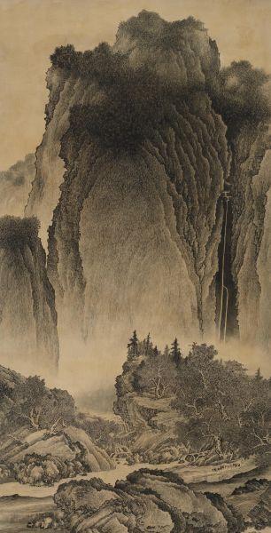 洪平濤-谿山行旅圖