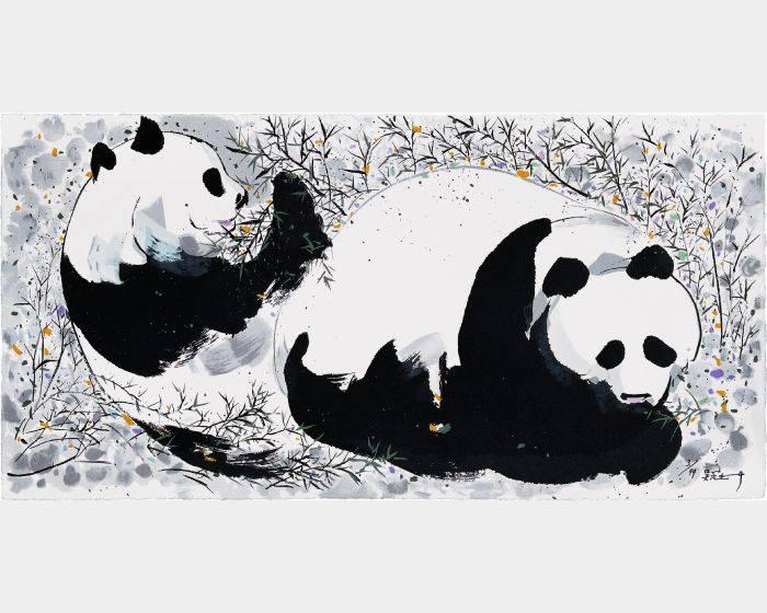 吳冠中-熊猫