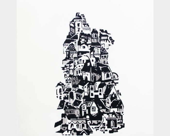 楊卉筠-堆疊記憶,楊卉筠,木凸版,79x79cm,2015