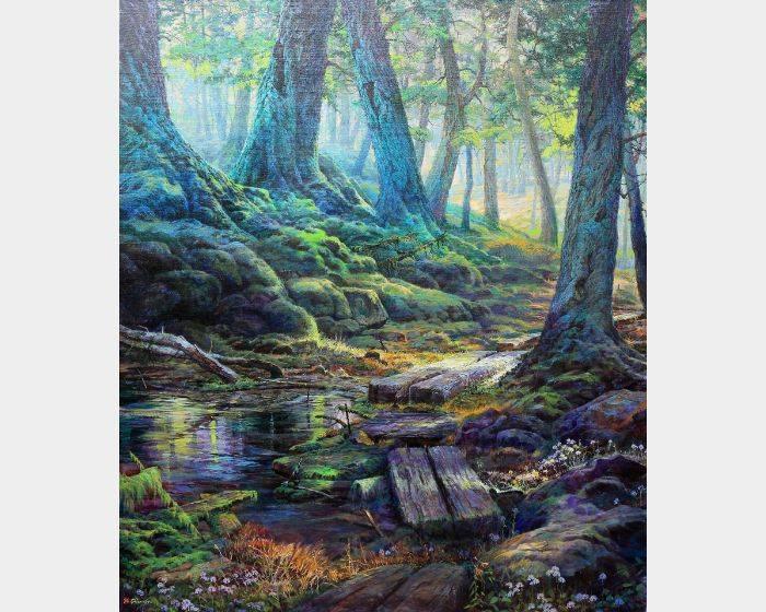 郭明福-漫步在森林