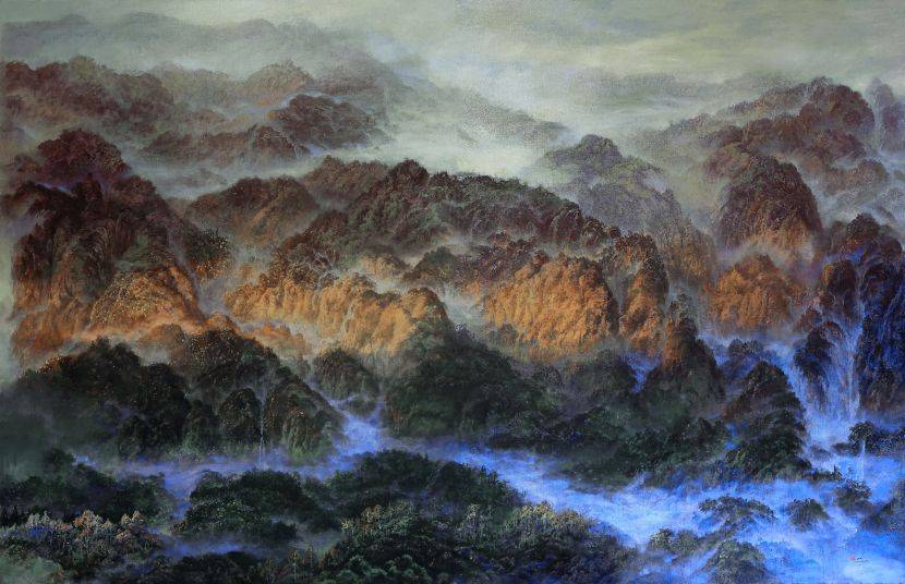 郭明福-神遊雲嵐映群峰
