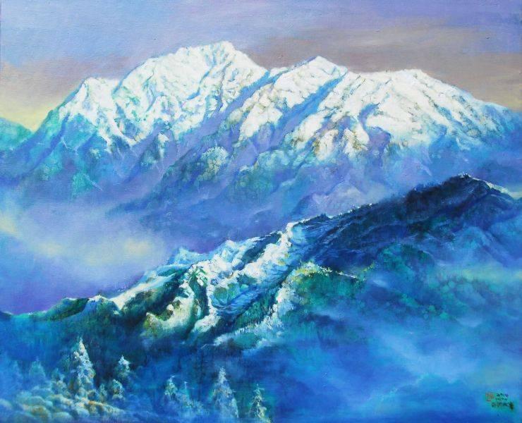 郭明福-藍色奇萊透琉璃