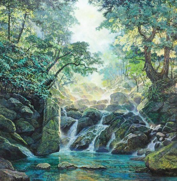 郭明福-竹崙溪晨光