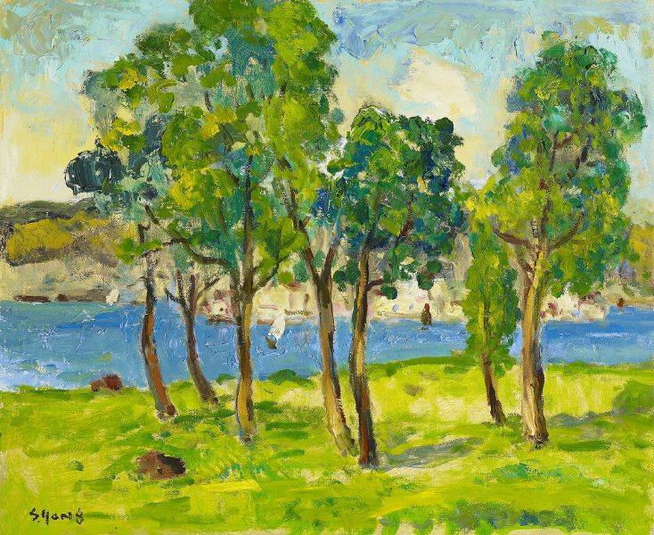 楊三郎-海邊並木