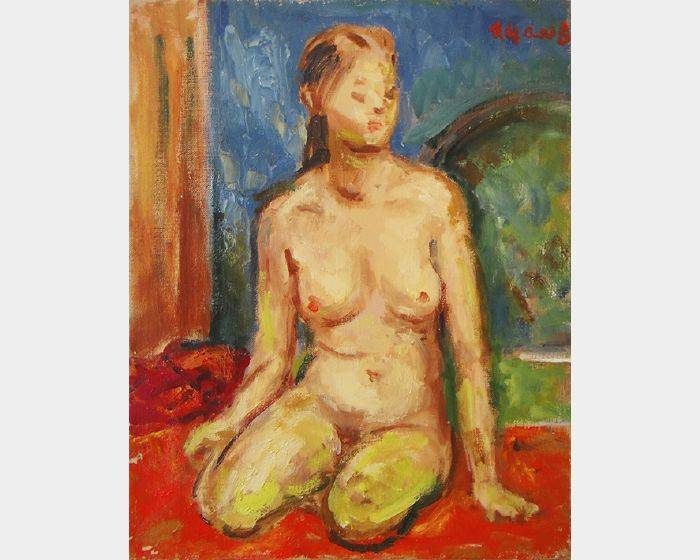 楊三郎-青春裸女