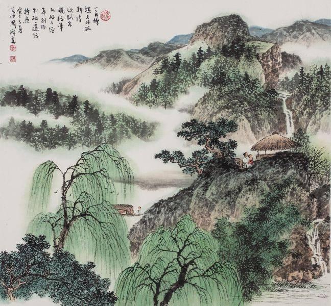 周澄-柳溪詩興