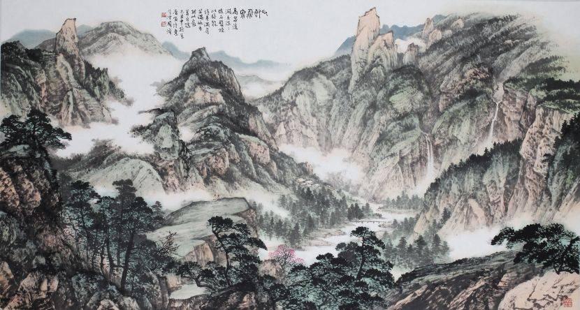 周澄-雲壑飛泉