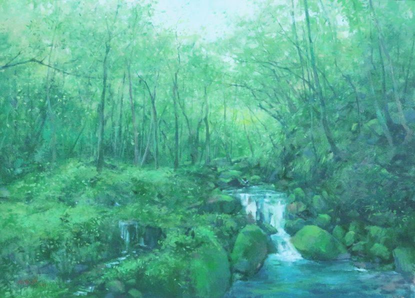 沈東榮-林間溪澗