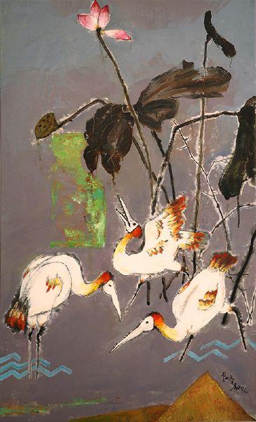 陳朝寶-面具水鳥