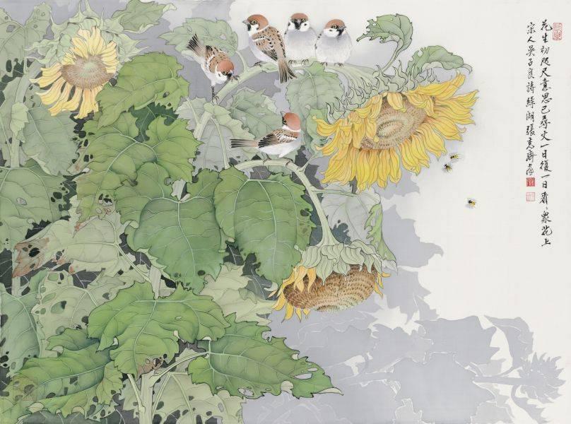 張克齊-葵花麻雀