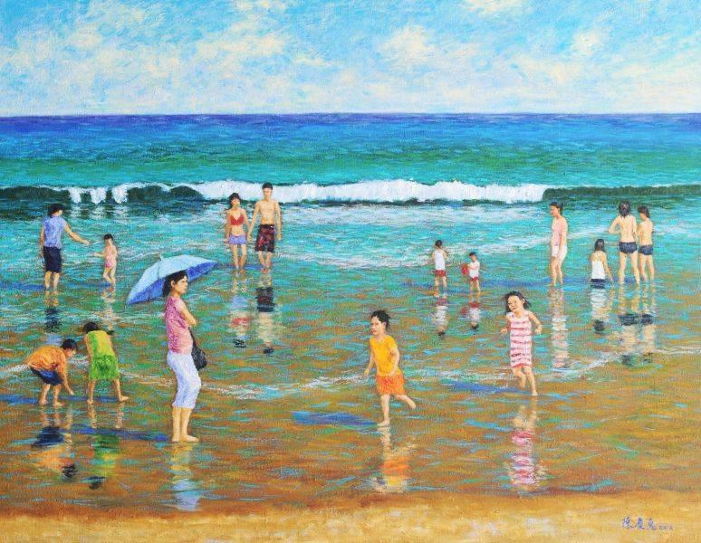陳慶惠-海灘戲水