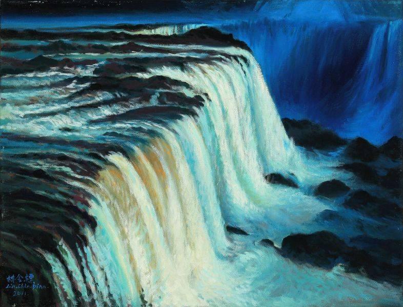 林金標-壯麗飛瀑