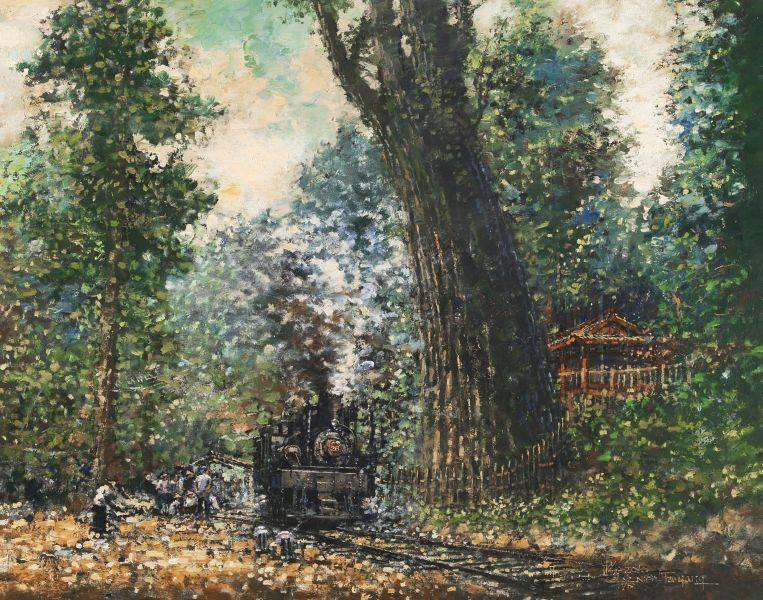 楊年發-阿里山神木與火車