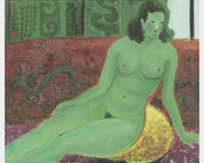 陳永森-綠色裸女