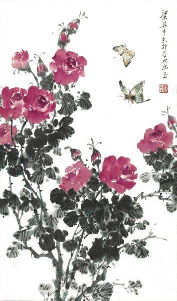 梁丹丰-玫瑰蝴蝶