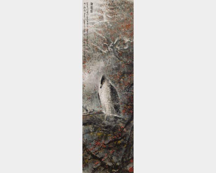 林章湖-秋鷹圖