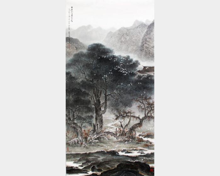 林章湖-幽居賦閒白鷺影