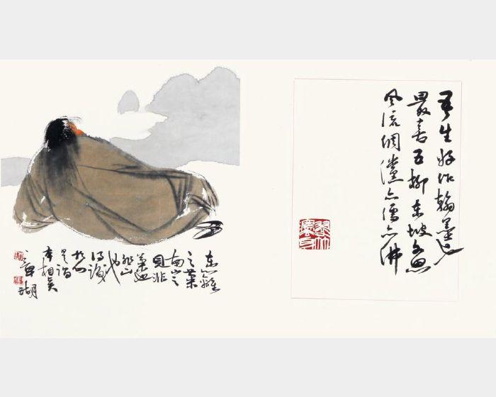 林章湖-禪意人物畫冊(八頁)-五柳