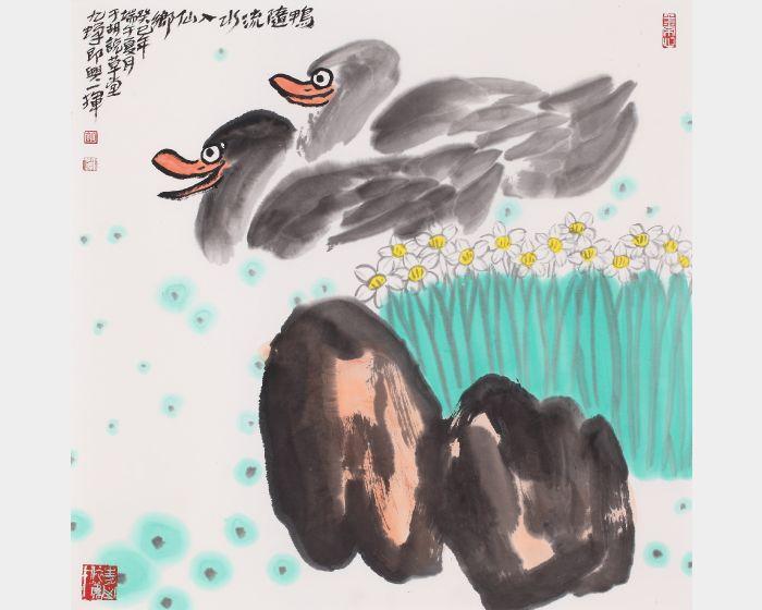 胡九蟬-仙鄉圖