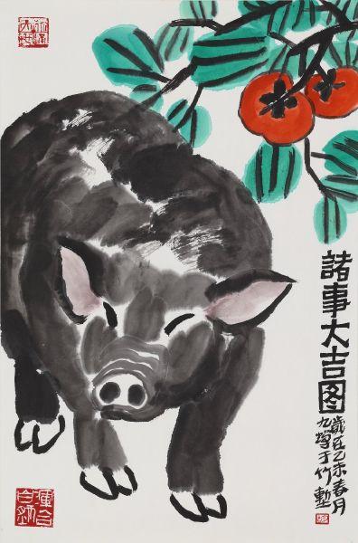 胡九蟬-諸事大吉圖
