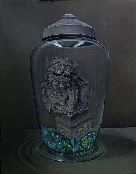 陳秀雯(獨家經紀)-保瓶系列-三峽祖師廟石獅(一)