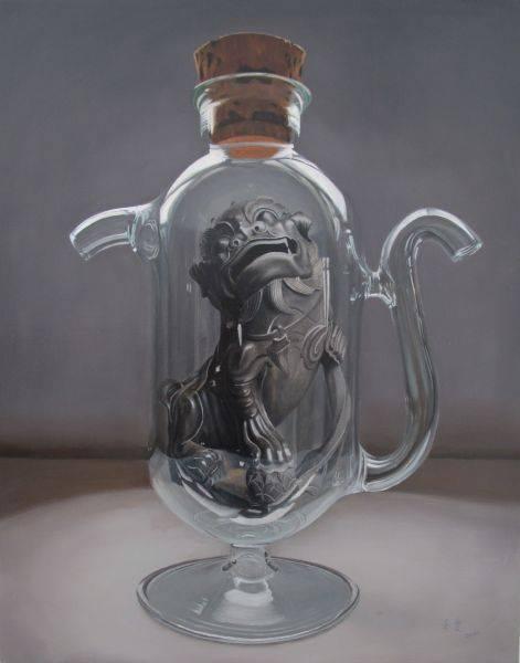 陳秀雯-保瓶系列-新竹都城隍廟(石獅二)