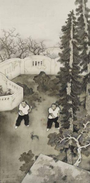 邵士銘-練武圖