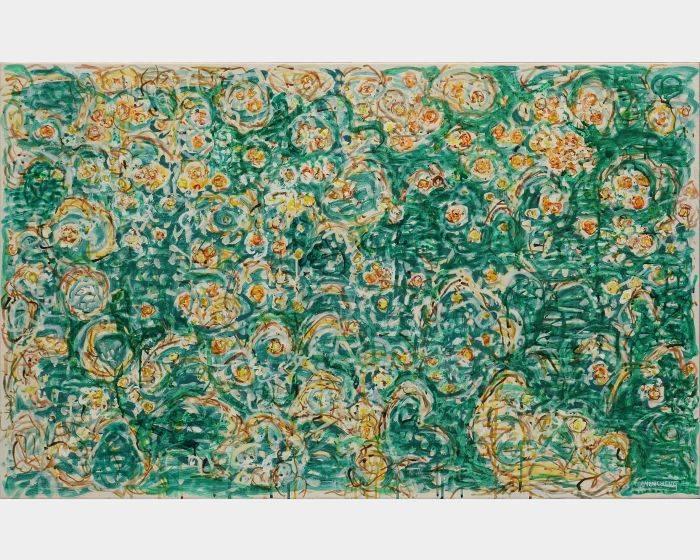 顏貽成-微風花草-1607
