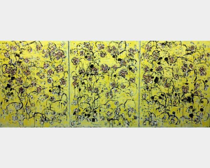 顏貽成-微風花草-1659
