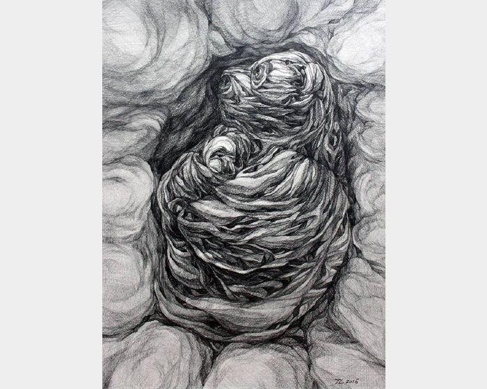 謝宗玲-畫石-似熊化石