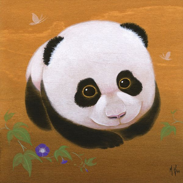 徐鈺樺 -Panda and Morning Glories 圓圓