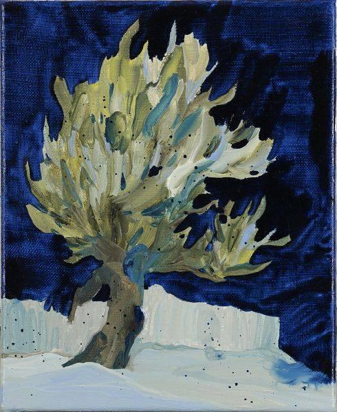 黃品玲-工作室外的樹
