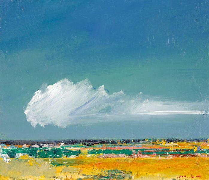 柯適中-地平線-期待藍天白雲