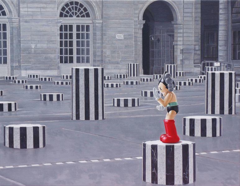 曹文瑞-兩根柱子之間的距離