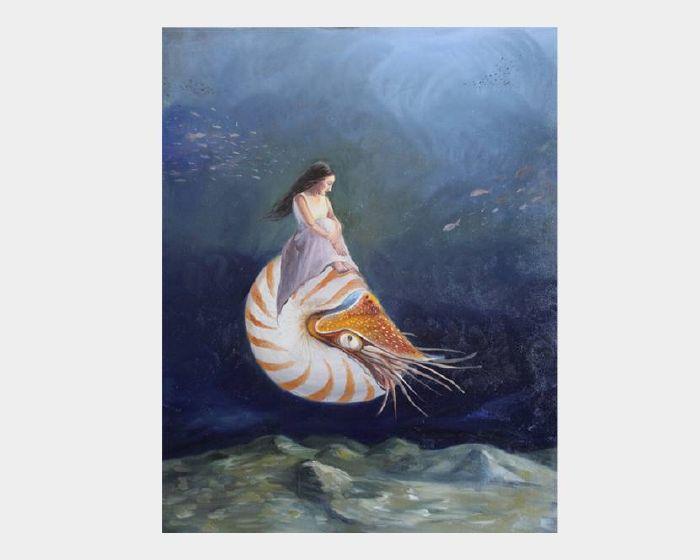 沈玉芬-美人系列-聽深海的藍 Blue Deeply