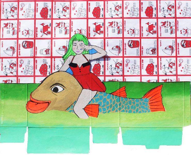 倪瑞宏-大金魚帶我走(複製畫)
