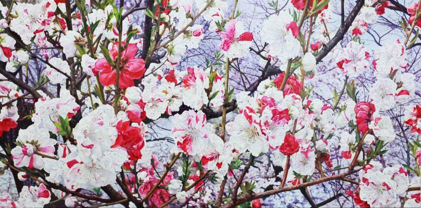 林嶺森-五色碧桃 Peach Blossom