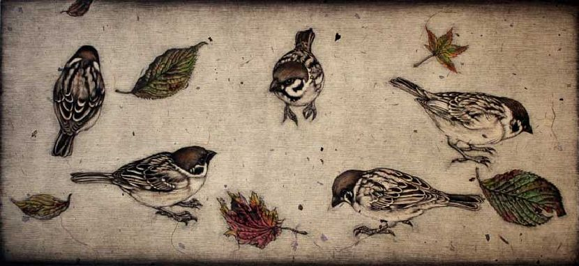 生田宏司-麻雀與落葉