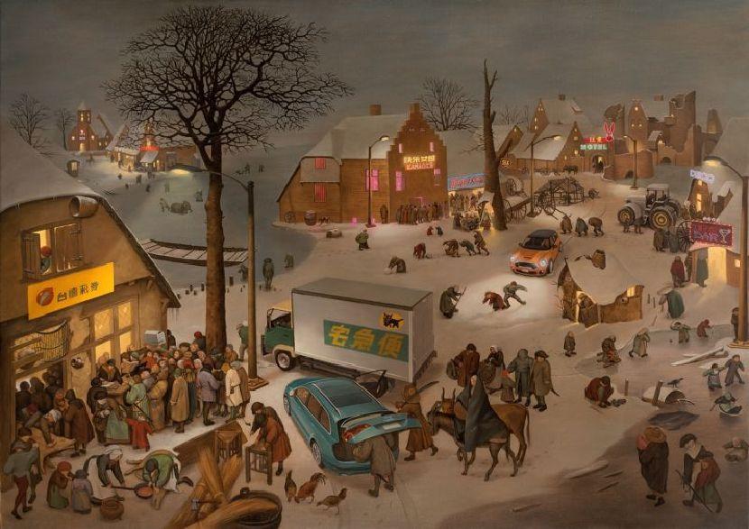 盧昉-布魯哲爾夜景圖 I:伯利恆的夜生活 Brueghel's Night Landscape - Night life of Bethlehem