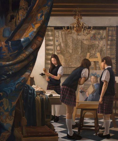 盧昉-美術史記事 III:維美爾畫室1668 Art History Note III: Vermeer's Studio 1688