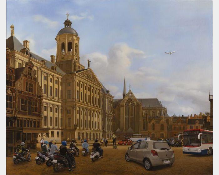 盧昉-誤闖入十七世紀阿姆斯特丹的車陣 Traffic in 17th Century Amsterdam